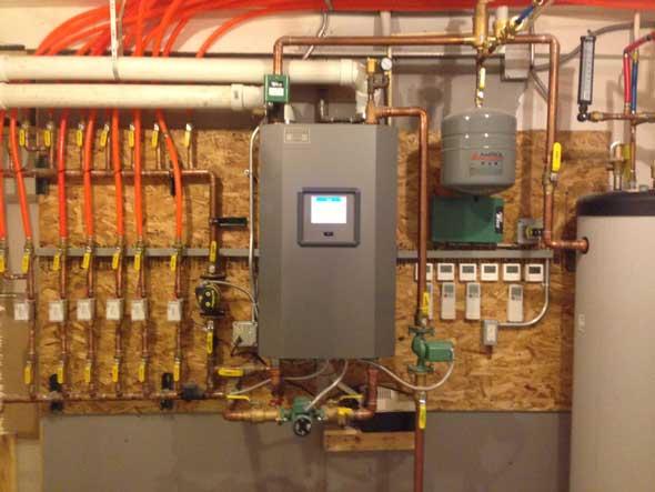 in-floor heat with boiler